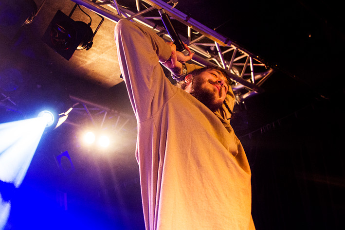 2017-02-15 - Post Malone performs at Debaser Hornstulls Strand, Stockholm