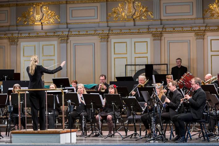 2018-04-14 - Blåsarsymfonikerna spelar på Musikaliska, Stockholm