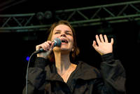 2008-06-26 - Anna Järvinen performs at Peace & Love, Borlänge
